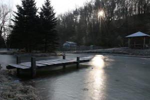 2017 gästehaus.stein winterzeit teich